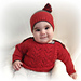Baby Gansey Sweater and Hat pattern