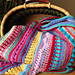 Multi-stitch Striped Blanket pattern