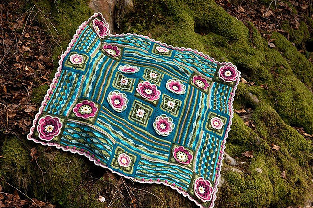 Ravelry Lily Pond Blanket Cal Pattern By Jane Crowfoot