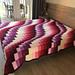 Queen Bargello Wave Bedspread pattern