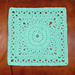 Topaz 9 Inch Square pattern