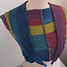 Color-Blocked-and-Seamed Scarf pattern
