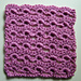Scallop lace square pattern