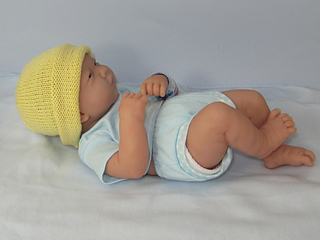 PREEMIES TINY NEWBORN BABY SIMPLE 4PLY BEANIE HAT KNITTING PATTERN INSTRUCTIONS