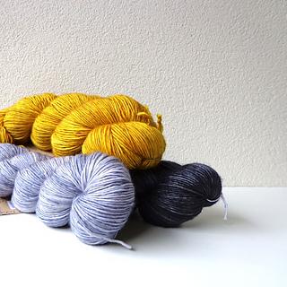 original yarn and sample colours