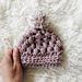 Chunky pom hat baby pattern
