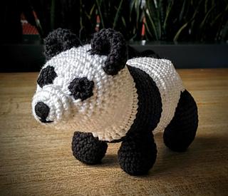 oso panda amigurumi (personalizado con