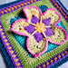 Strawberry Blossom Afghan Square pattern
