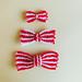 Striped Festive Bows pattern