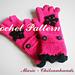 Crochet half/fingerless mittens pattern
