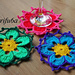 Flower hot pad, coaster pattern