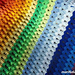 rainbow easy colorful ripple afghan pattern