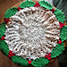 Holly Wreath Doily pattern