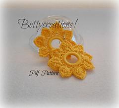 Fiori Gialli Uncinetto.Ravelry Flower Crochet Earrings Tutorial Pattern By Bettina Imperato