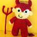 Devil Mini Spook Amigurumi pattern
