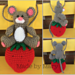 Wall Hanging - Mouse on a Strawberry pattern