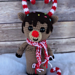Candy Cane Reindeer pattern