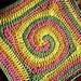 Spiral Circle to Square pattern