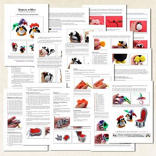 King and Jester Penguins amigurumi pattern crochet toy pattern NEW pdf photo tutorial