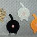 Cat Butt Coasters pattern