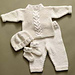 Cabled Baby Set #60604A pattern
