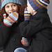 Striped Basic Hat & Mittens 4 Needles (Mittens) pattern