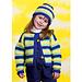 Kid's Striped Cardigan & Stocking Hat pattern