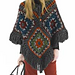 Posh Poncho & Granny Square Bag (Poncho) pattern