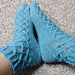 Woven Cable Eyelet Socks pattern