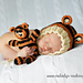 Tiger Bonnet and Stuffie Set Knit pattern