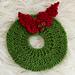 Christmas Wreath Hot Pad ~ Knit Version pattern