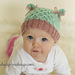 Smock Stitch Kitty Hat ~ Knit Version pattern