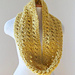 Boucle Eyelet Infinity Scarf In Two Sizes pattern