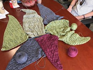 Monday knitting group progress