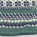 Diagonal Squares Variation #1 Cuff pattern