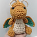 Dragonite cute chibi pattern