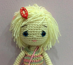 Kelly Doll crochet pattern - Amigurumi Today | 215x240