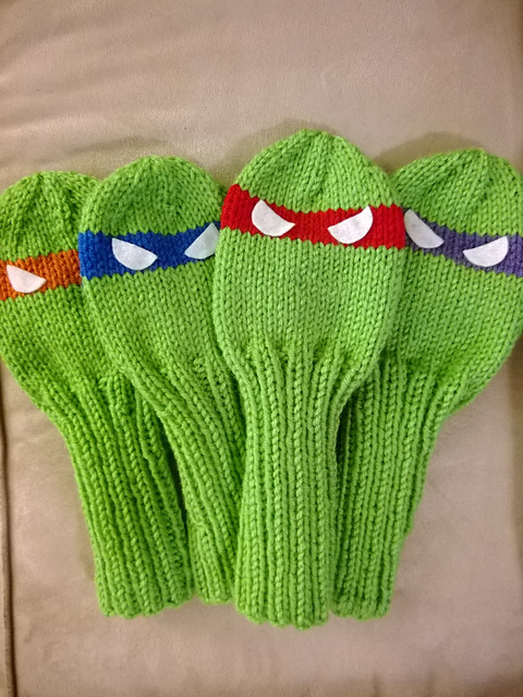 Ravelry Teenage Mutant Ninja Turtle Golf Club Covers Pattern By Sundae S Shop