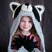 Hooded Woodland Raccoon Blanket pattern