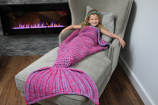 Ravelry Bulky Quick Mermaid Blanket Pattern By Mj S Off The Hook Designs