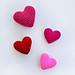 3D Hearts pattern