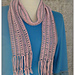 Striped Scarf with Knotted Fringe pattern