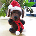 Santa Hat and Scarf for Dog Amigurumi pattern