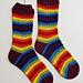 Staggered Path Socks pattern