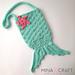 Mermaid tail purse pattern