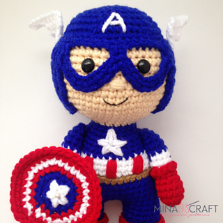 Captain America Amigurumi Pattern Free Crochet Avengers (With ... | 320x320