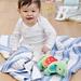 Garter Stripe Baby Blanket pattern