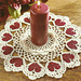 Romantic Hearts Candle Doily pattern