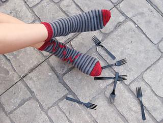 socks in forks