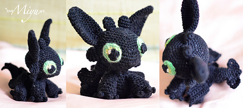 Crochet a Toothless and His Girlfriend Light Fury – These Are The ... | 223x500